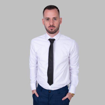 FALCON'S Elegáns Anyagában Mintás Nyakkendő(fekete)