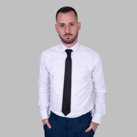 FALCON'S Fényes Mintás Elegáns Nyakkendő (fekete)