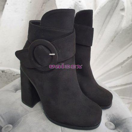 Arabella cipő/magassarkú bokacsizma (fekete)