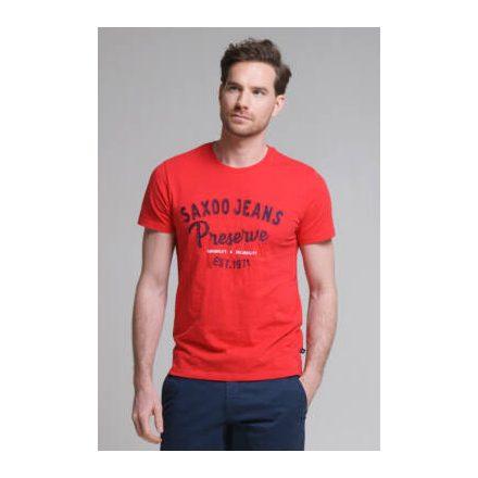 SAXOO LONDON Veblen t-shirt (piros)
