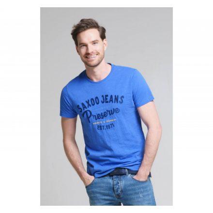 SAXOO LONDON Veblen t-shirt (kék)